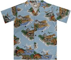 Dinosaur Park Boys' Hawaiian Shirt