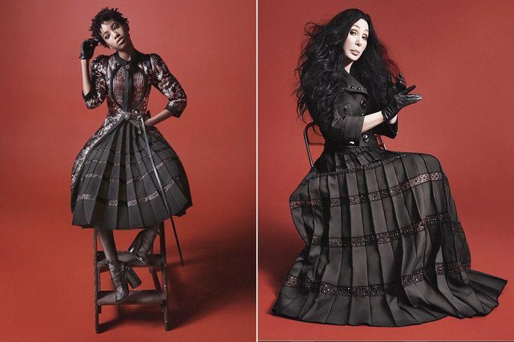 Willow e Cher: atitude não tem a ver com idade.