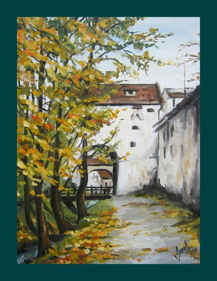 Brasov, (dupa ziduri), oil painting