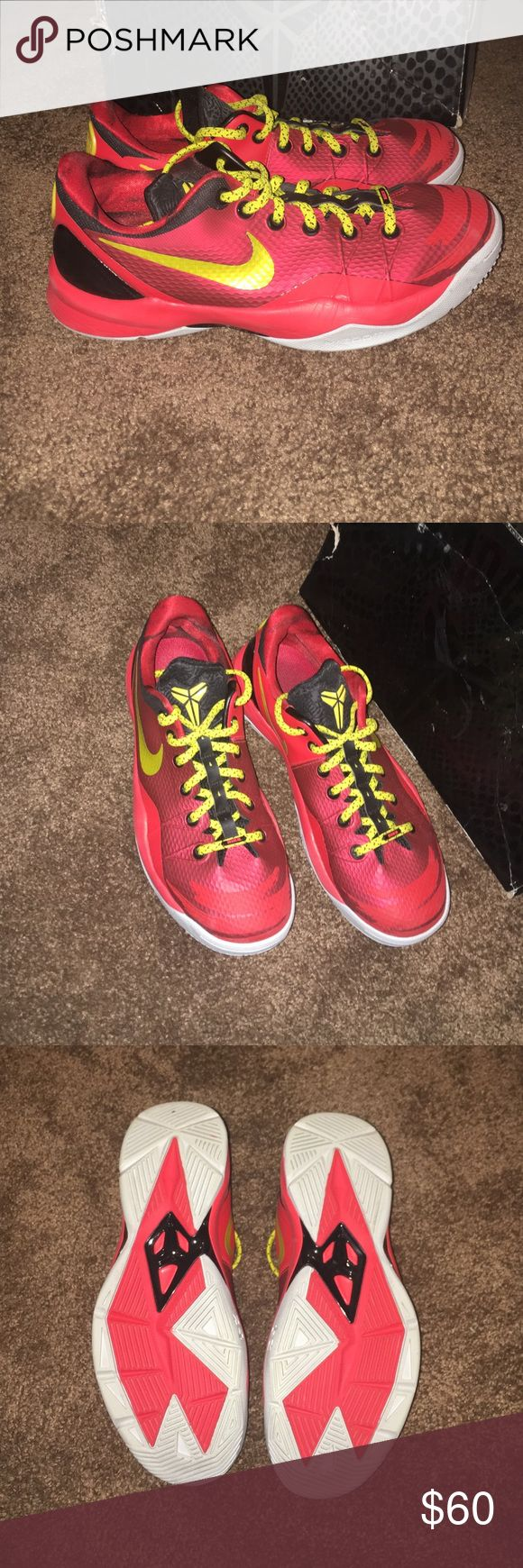 Kobe shoes men's size 8.5 women's size 10 Their in perfect condition worn like twice. The box they came in is a little destroyed from being stacked under other shoes. Nike Shoes Athletic Shoes