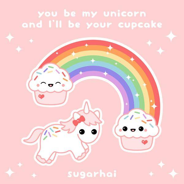 Cupcake Rainbow Cute Quotes Amp Sayings Cute Unicorn