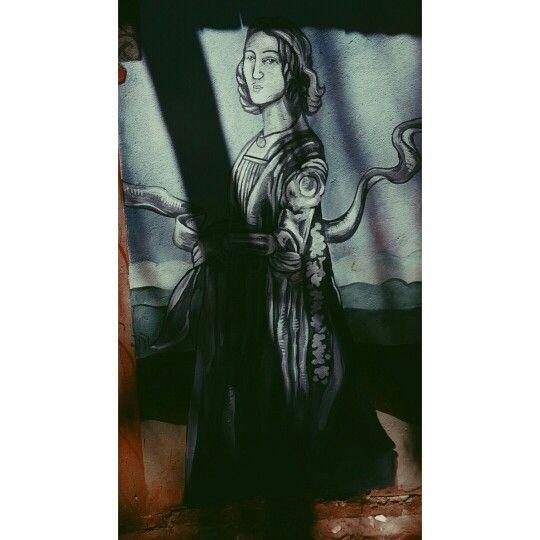 Johnny Allison art drawing doodle pen design woman superhero fantasy face art renaissance