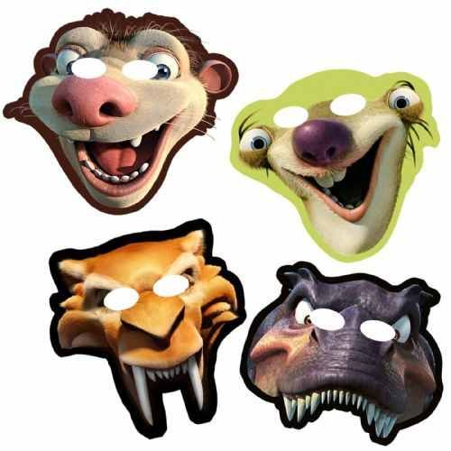 Ice age party theme mask