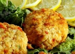 Baked Crab Cakes | HCG Recipes | Low Carb HCG | Pinterest | Baked Crab ...