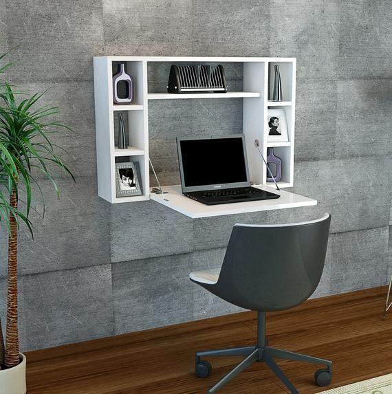 Omega Study Desk White Floating With Storage Study Room Decor Study Room Small Floating Desk