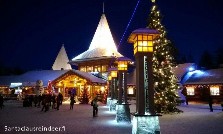 Blue moment at Santa Claus Village in Rovaniemi in Lapland