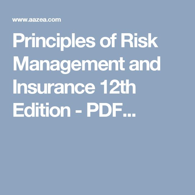 Principles of Risk Management and Insurance 12th Edition - PDF...