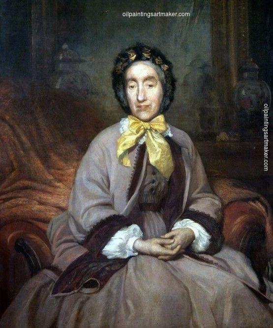 Bertalan Szekely Portrait of Mrs. Ignác Pfeffer, painting Authorized official website