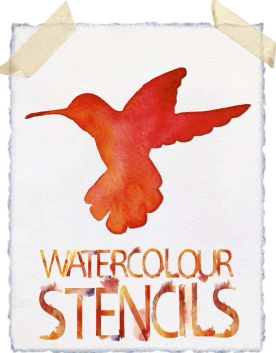 Make beautiful watercolour paintings using simple stencils and monograms...