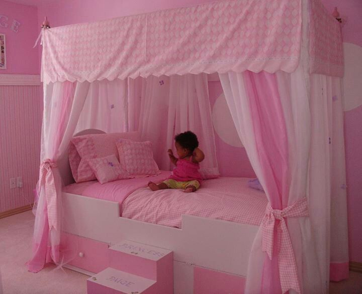 princess canopy bed ashlyn 39 s room ideas pinterest. Black Bedroom Furniture Sets. Home Design Ideas