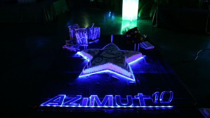 Azimut 10th anniversary cake