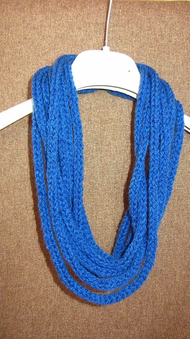 naszyjnik-szal, wykonany na drutach. Blog rękodzieło Joanna Gorzel