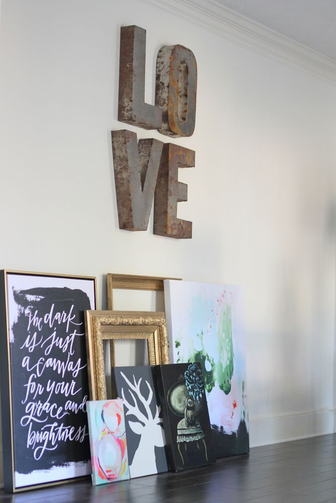 LL Dark is Just a Canvas & Peppermint Moss Canvas styling, via Paige Knudsen