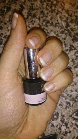 Fransk manicure med Pink pearl