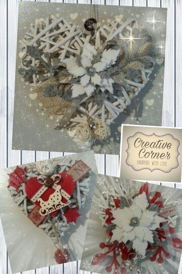 Cuori con decorazioni in feltro