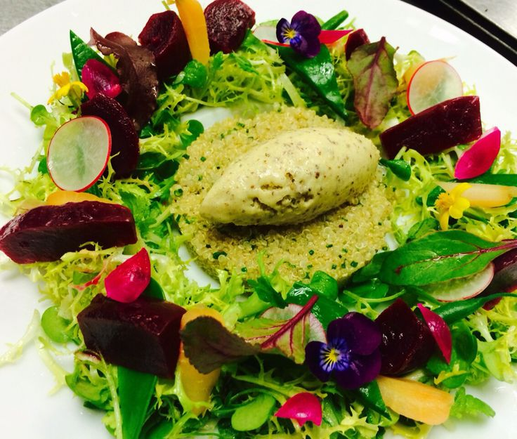 Mustard sorbet vegetables dinner food