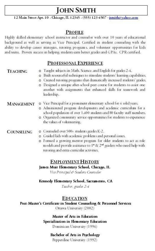 teacher resume examples 2015