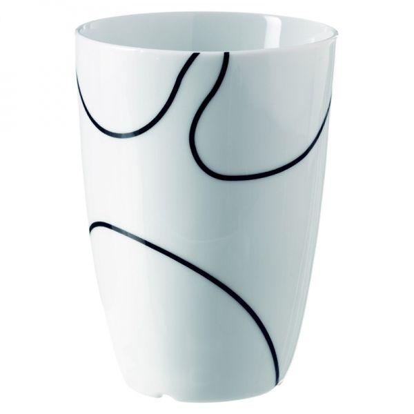 Thermotasse Black Contour 210ml - Menu Design #black #white #thermo #mug #cup