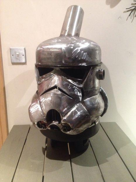 Stormtrooper-style log burner #starwars