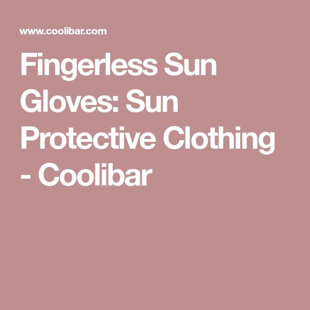 Fingerless Sun Gloves: Sun Protective Clothing - Coolibar