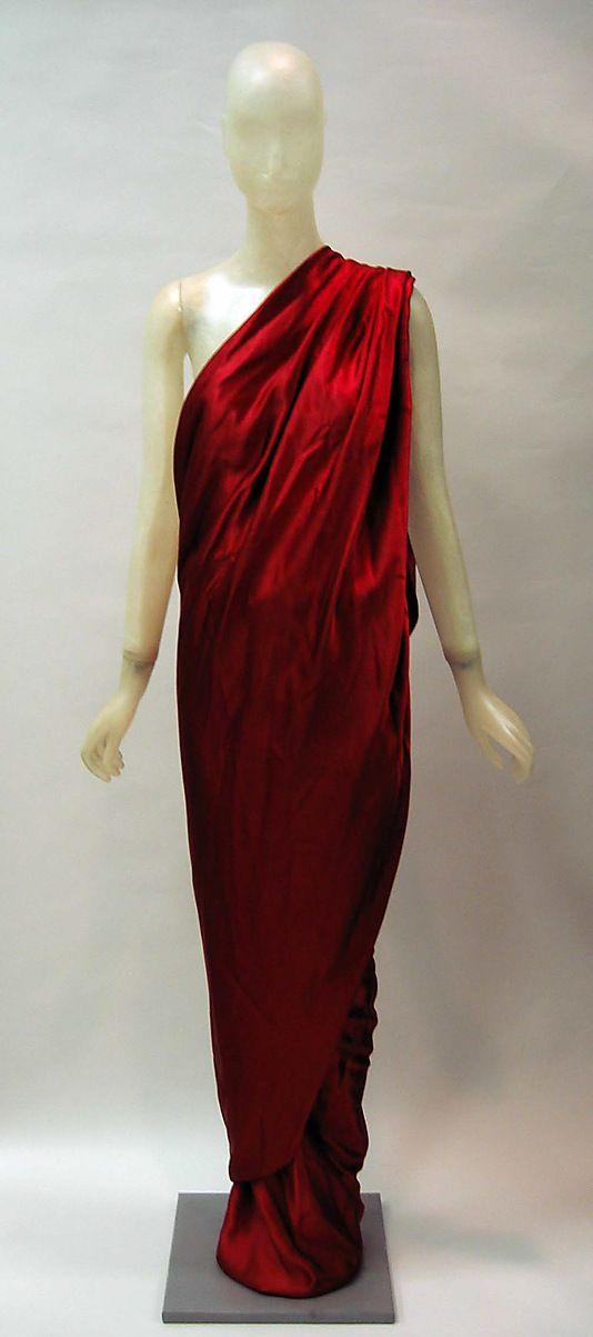 Dress   Halston (American, 1932-1990)   Date: 1984   Material: synthetic   The Metropolitan Museum of Art, New York