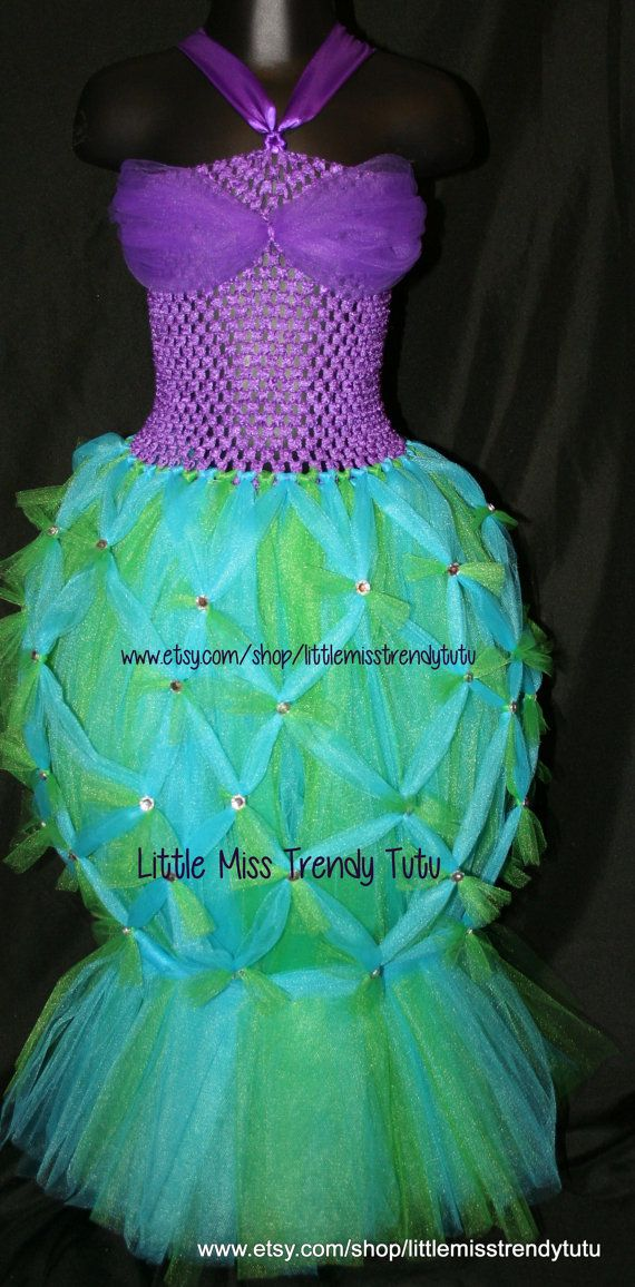 Listing is for Princess Ariel Little Mermaid Tutu Dress   When ordering, please include the following in the notes to seller or send me a