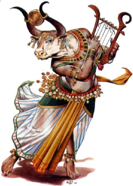 Hathor: Goddess of  music, dance, foreign lands, fertility, and cows.