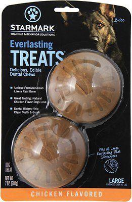 Starmark Everlasting Treats Chicken Flavor Dog Dental Chews, Large - Chewy.com