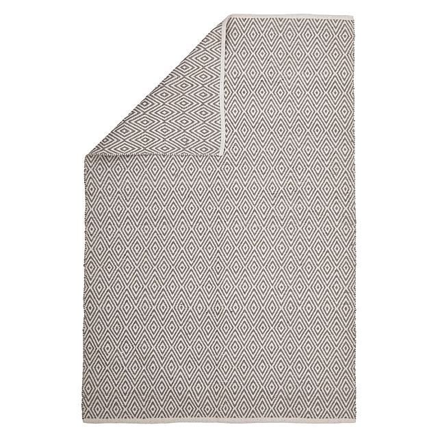 Rug Republic Knots Diamond Modern Jute Rug, Grey
