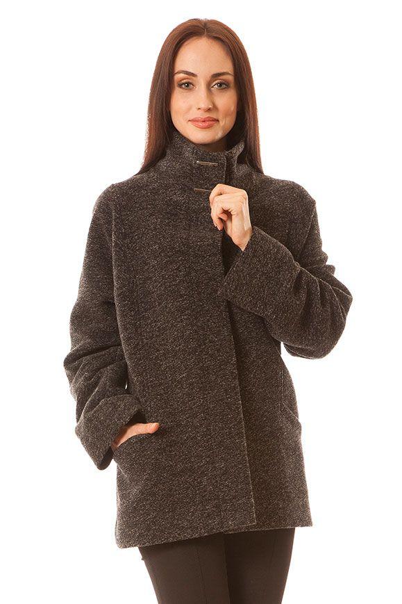 Kurtka Marlena czarny melanż Semper #fashion #semper #aw2016 #fw2016 #fashionbrand #black #coat