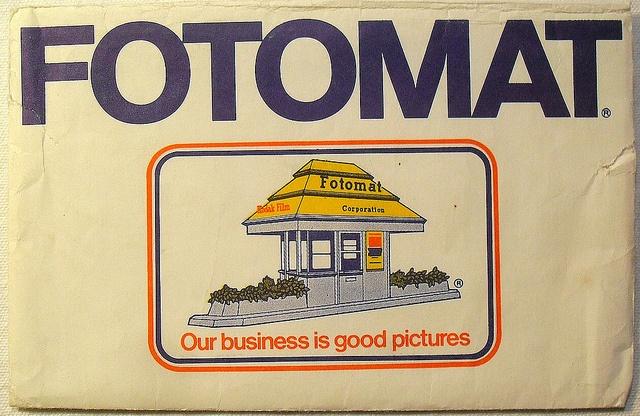 1970s FOTOMAT Photo Processing Envelope by Christian Montone, via Flickr