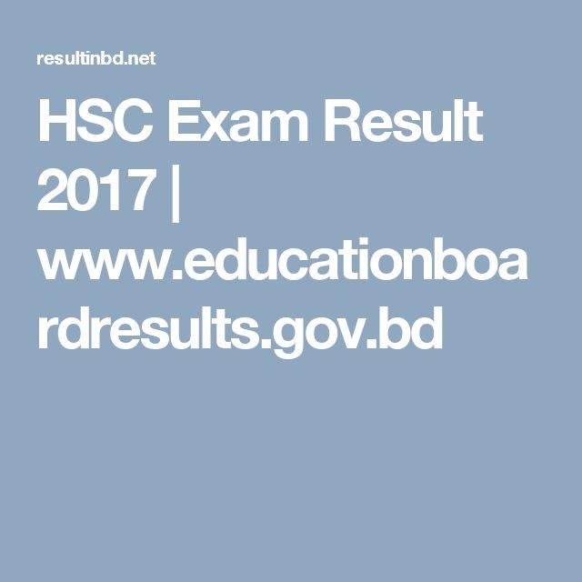 HSC Exam Result 2017 | www.educationboardresults.gov.bd