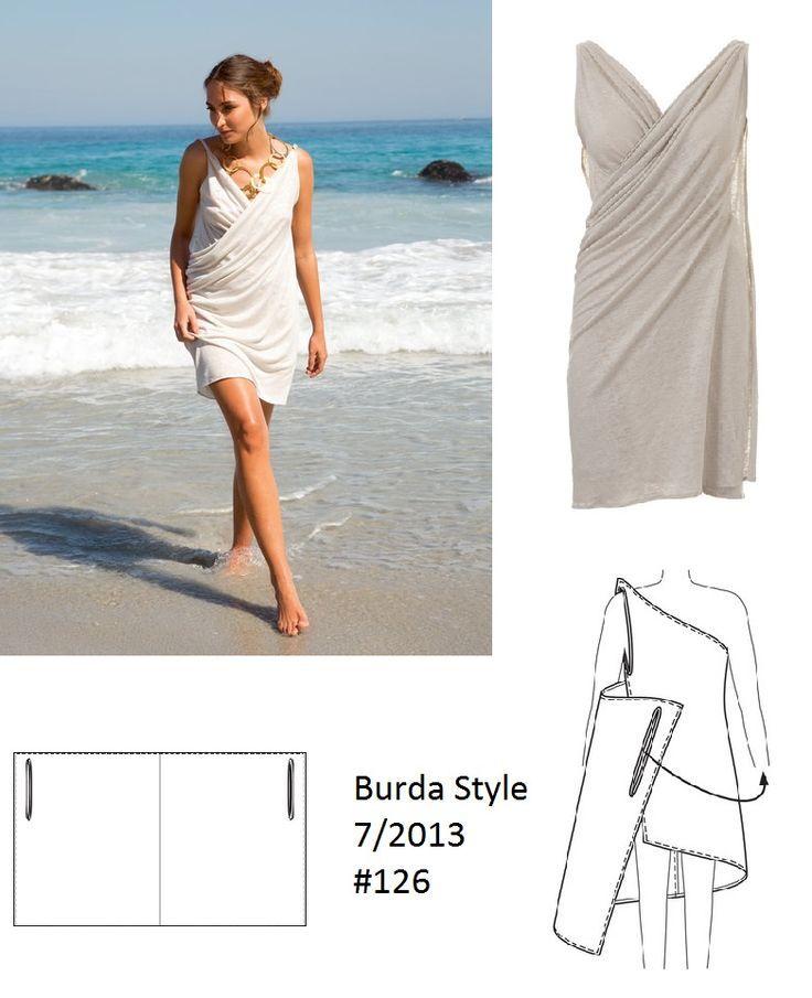 burdastyle drape dress - Google-søk                                                                                                                                                                                 More