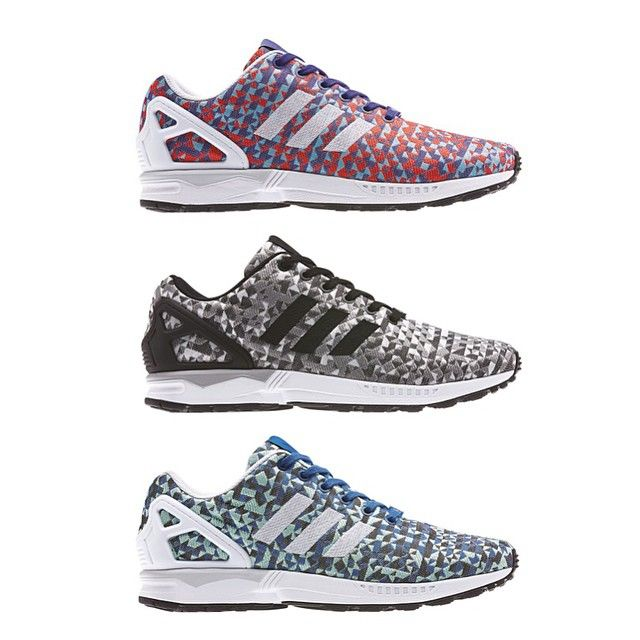adidas zx flux multicolor weave silk art horse head