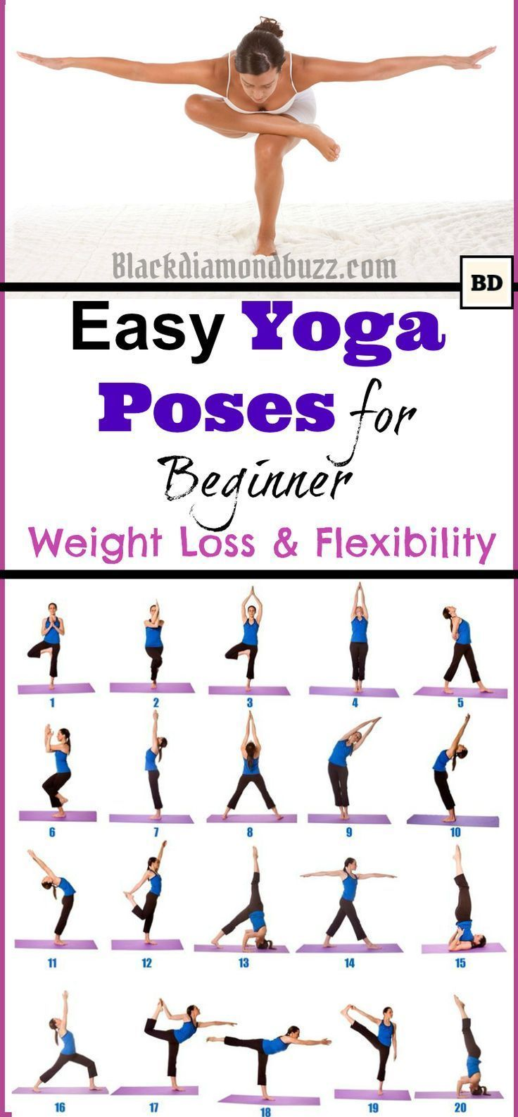 Easy Morning Yoga Poses For Beginner For Weight Loss And Flexibility At Home Yogachallenge