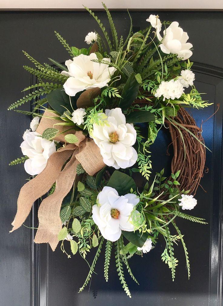 """""""Sweet Magnolias"""" Magnolia Wreath"""