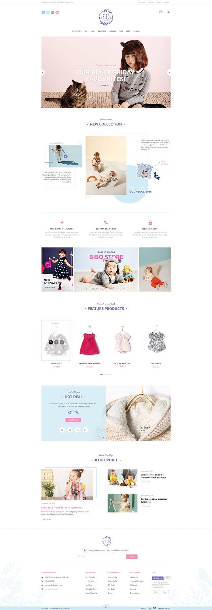 Bibo - Baby Store PSD Template on Behance