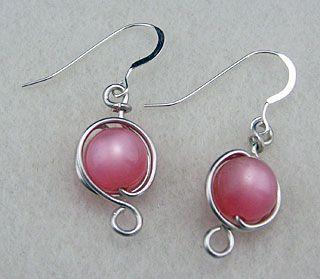 Wire-wrap Tutorial. #wire #jewelry #tutorial #earrings
