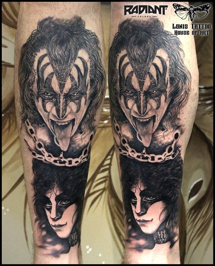 KISS band,Paul Stanley portrait tattoo by Lonis #lonistattoo www.lonistattoo.com