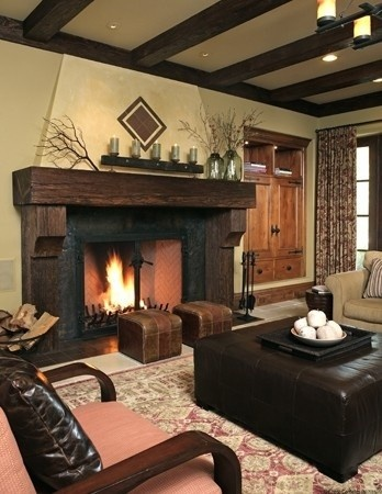 Spanish Colonial Elements Wooden Ceiling Beams These Add A Warm Rustic Appeal To This