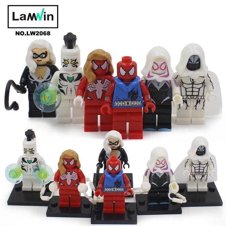 $5.51 (Buy here: https://alitems.com/g/1e8d114494ebda23ff8b16525dc3e8/?i=5&ulp=https%3A%2F%2Fwww.aliexpress.com%2Fitem%2FMarvel-Superheroes-Spider-Woman-Woman-Spider-Man-Spider-Gwen-White-Tiger-Moon-Knight-Black-Cat-Mini%2F32796444235.html ) Marvel Superheroes,Spider-Woman,Woman Spider-Man,Spider-Gwen,White Tiger,Moon Knight,Black Cat Mini Fig Building Blocks Toys for just $5.51