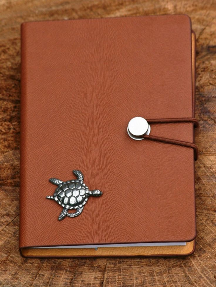 Turtle KR Pewter Design Notebook #ad #Etsy #turtle