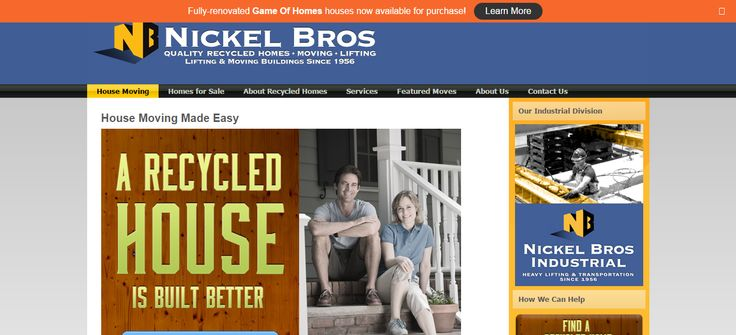 NICKEL BROS. - LIFTING - MOVING - **QUALITY RECYCLED HOMES** - GAME of HOMES MOVER (Contest on HGTV May / June 15') HOUSE MOVERS, MOVING HOMES FOR SALE in BRITISH COLUMBIA, CANADA & WASHINGTON STATE.