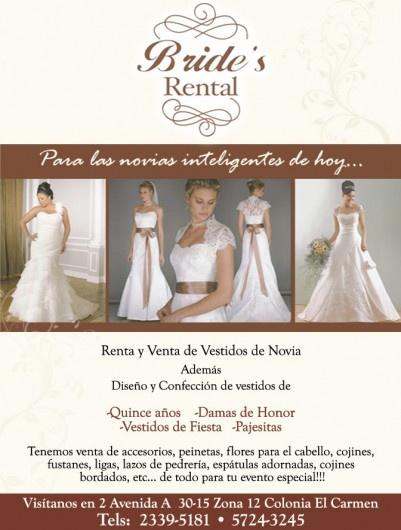 Bride's Rental - Venta y Renta de Vestidos de Novia - Guatemala