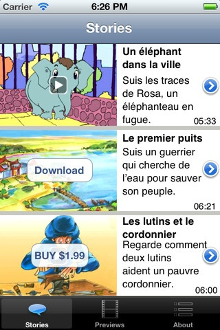 Free itunes -- stories in different languages