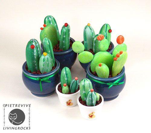 DIY stones cactus
