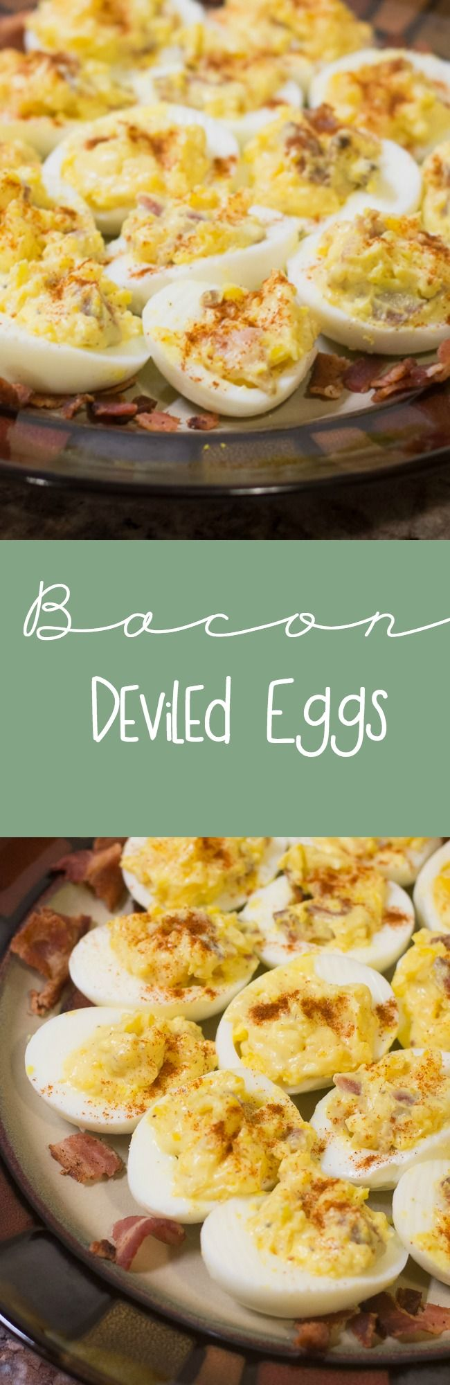 Do you enjoy bacon and eggs? Then you'll love this simple bacon deviled eggs recipe! It has all the makings of a traditional deviled egg, but the bacon adds a much needed (and delicious) crunch!)