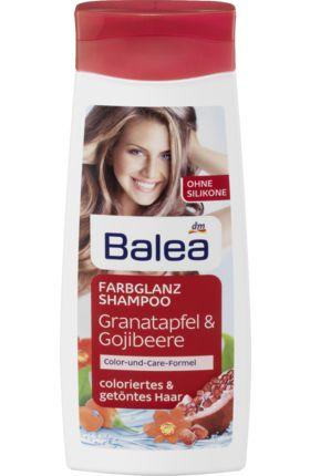 Косметика по уходу Balea Shampoo Farbglanz шампунь для окрашенных волос 300 мл (Германия)