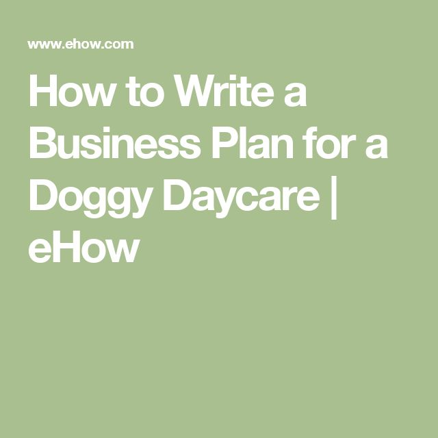 The 25+ best Daycare business plan ideas on Pinterest Childcare - business plan cover letter