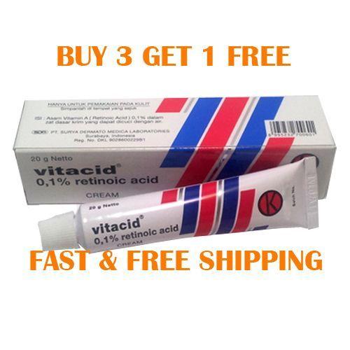 Vitacid 20gr Retin A Retinol 0.1 Cream Anti Ageing / Acne / Wrinkle / Papules